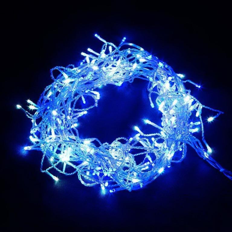 Jingle Jollys 800 LED Christmas Icicle Lights Blue