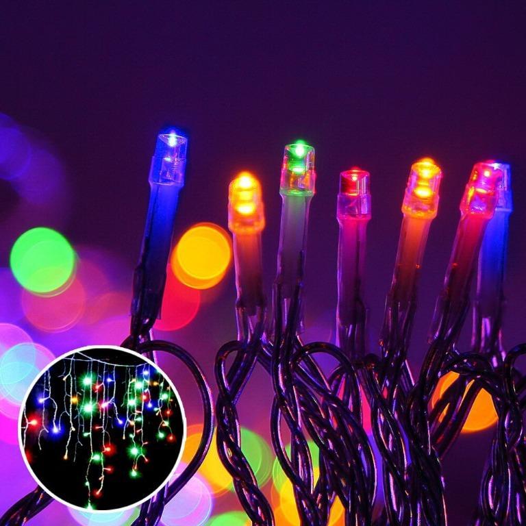 Jingle Jollys 800 LED Christmas Icicle Lights Mutlicolour