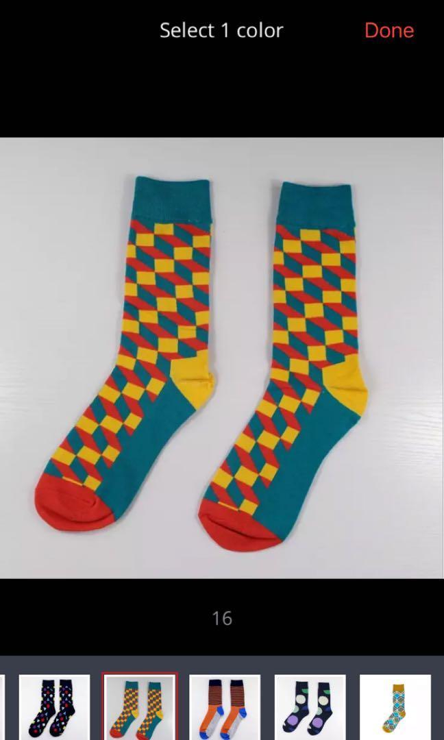 Kaos kaki motif pria / sneaker hype socks
