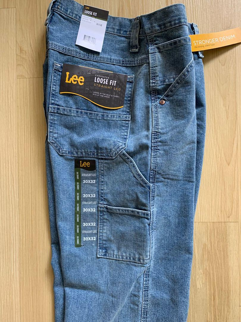 Lee men's Dungarees loose-fit straight leg carpenter jeans