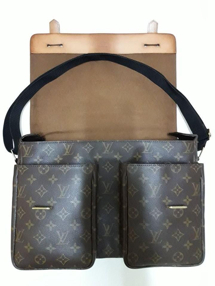 LOUIS VUITTON M50206 Broadway Monogram帆布LV公事手提斜背側背郵差書包N42270