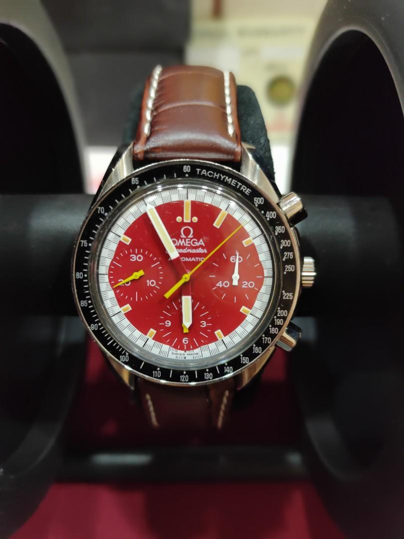 Omega SpeedMaster Collection Item Rare Michael Schumacher Limited Edition Swiss Men Automatic Chronograph