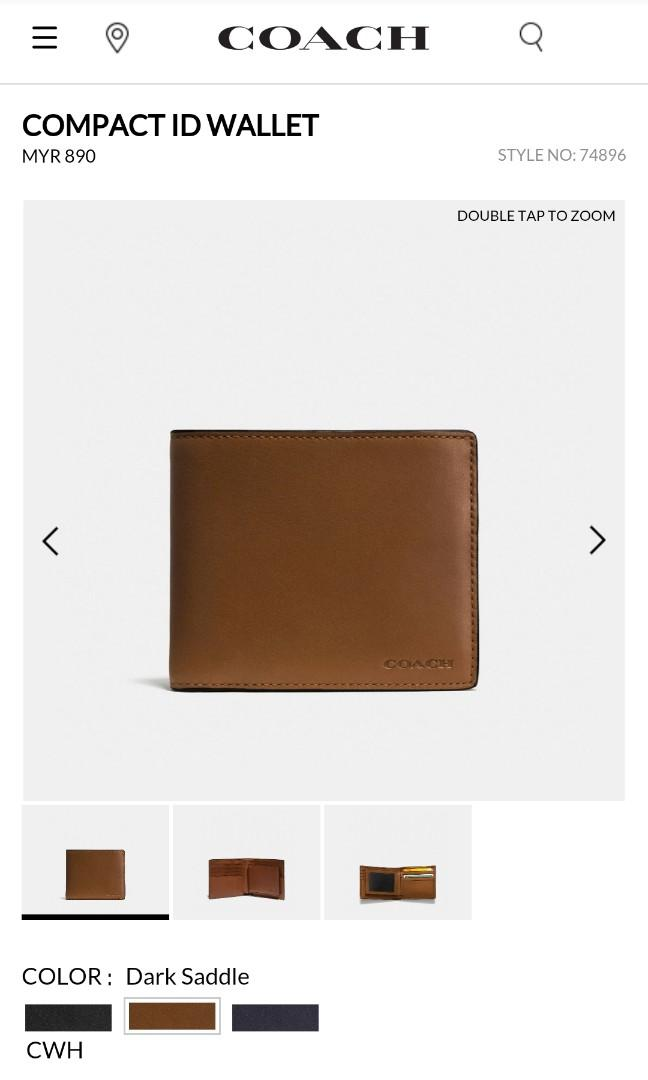 Original Coach Men Wallet