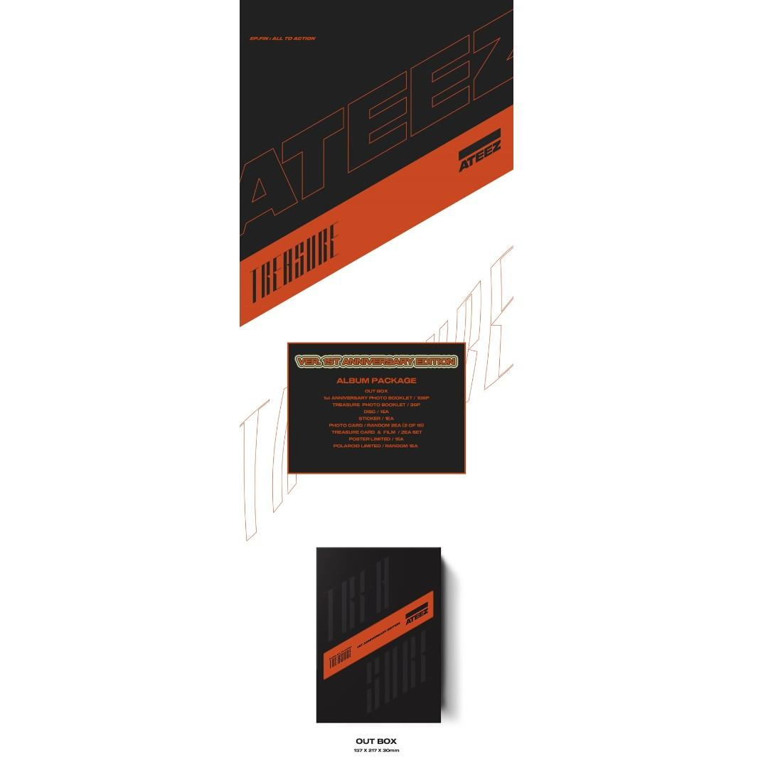[PREORDER] ATEEZ (에이티즈) - TREASURE EP.FIN : ALL TO ACTION / VER. 1st ANNIVERSARY EDITION