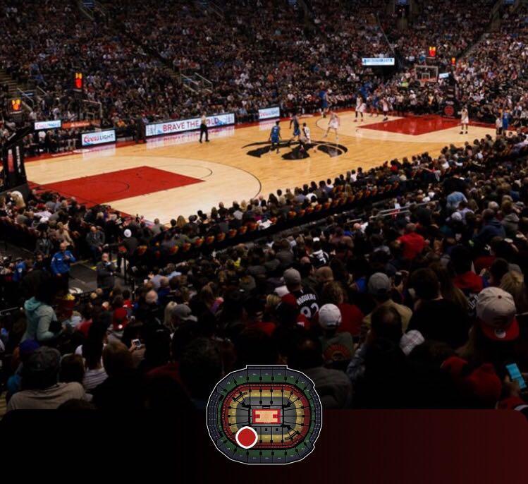 Raptors vs. Pistons - Lower Bowl Seats - October 30
