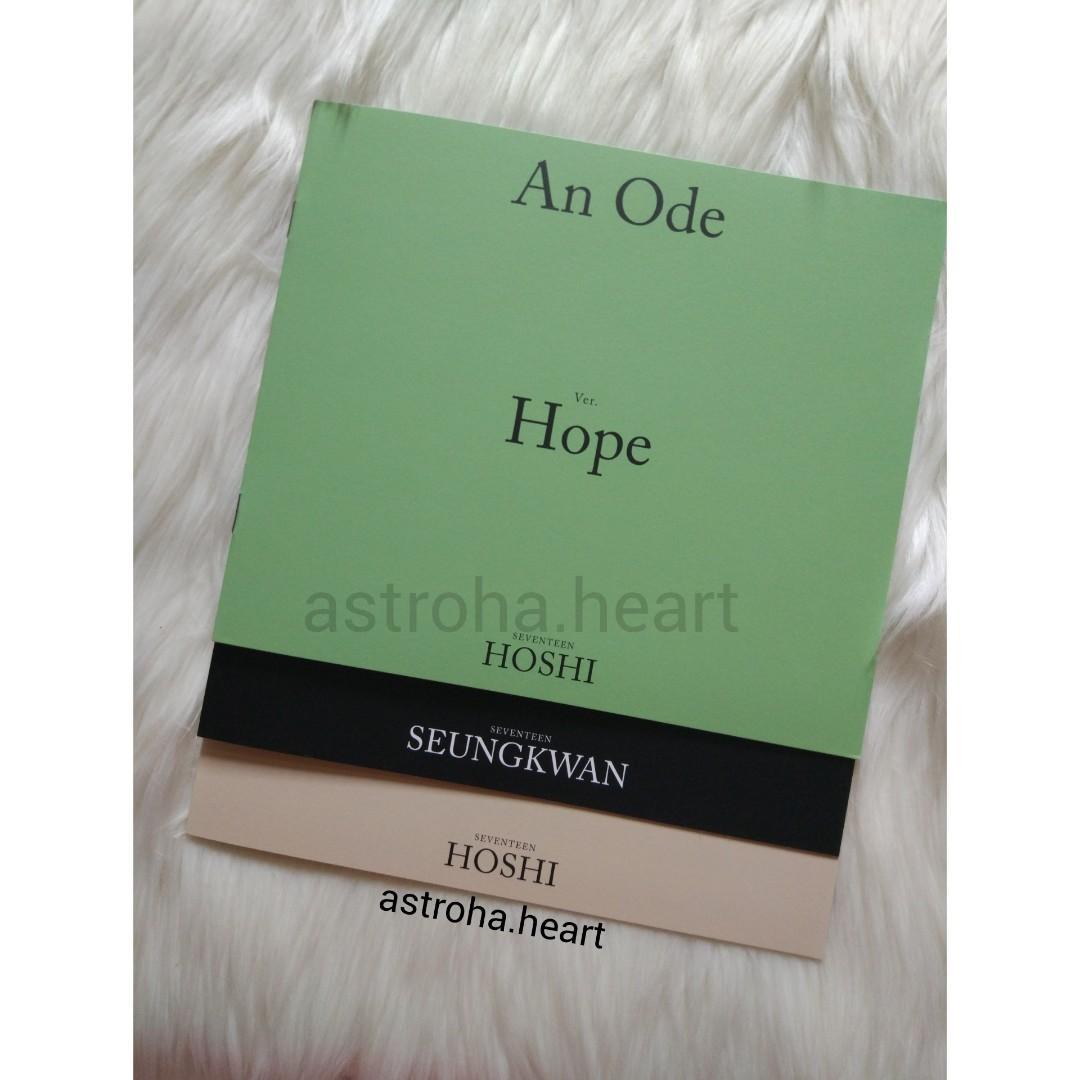 [Ready Stock] Seventeen 3rd Album An Ode mini photobook Hoshi Seungkwan