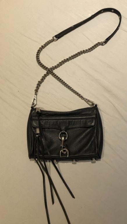 Rebecca Minkoff Black/Silver Mac Mini Crossbody Bag