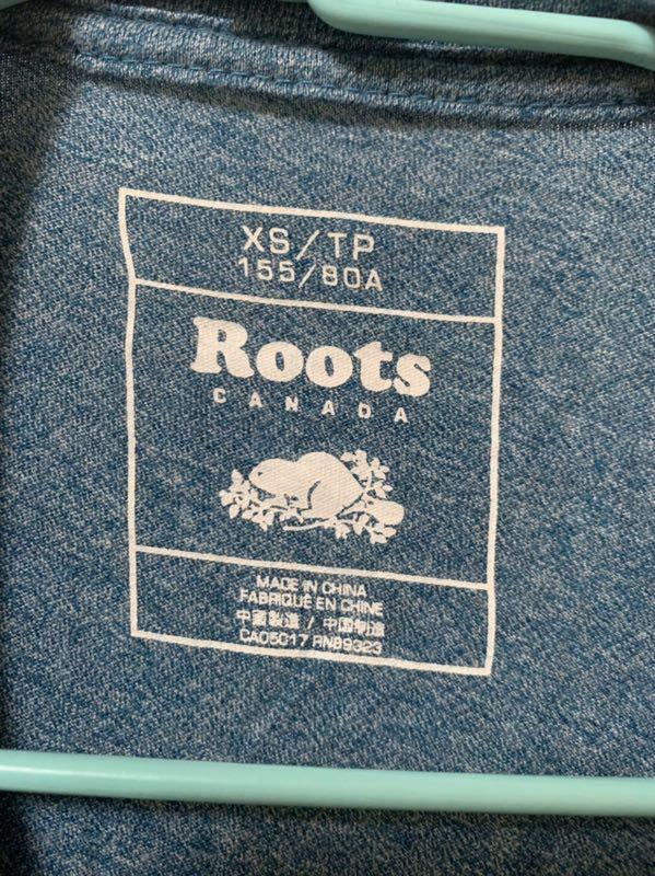Roots短袖t  二手
