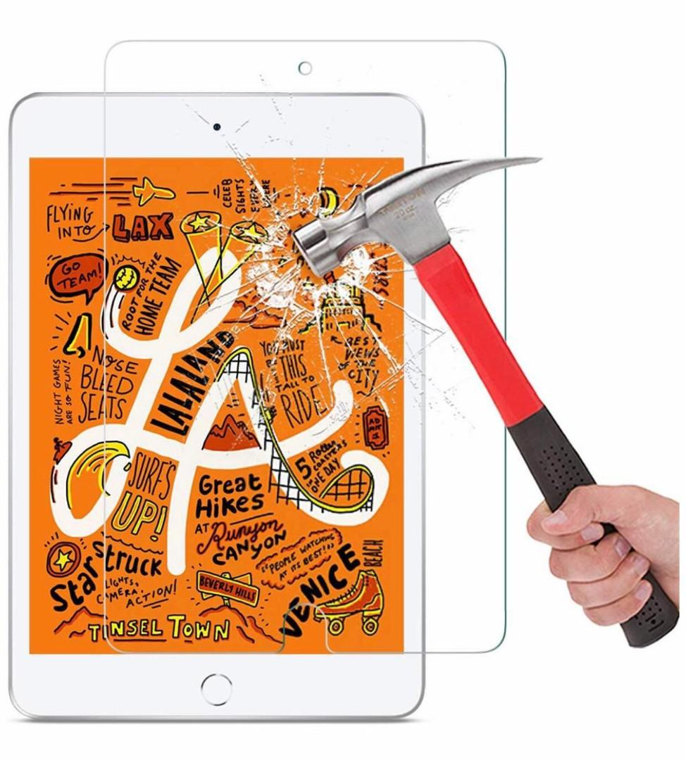 Screen Protector for iPad Mini 5 2019 / iPad Mini 4 - Tempered Glass/Apple Pencil Compatible/Scratch Resistant 兼容蘋果筆 屏幕鋼化玻璃保護貼