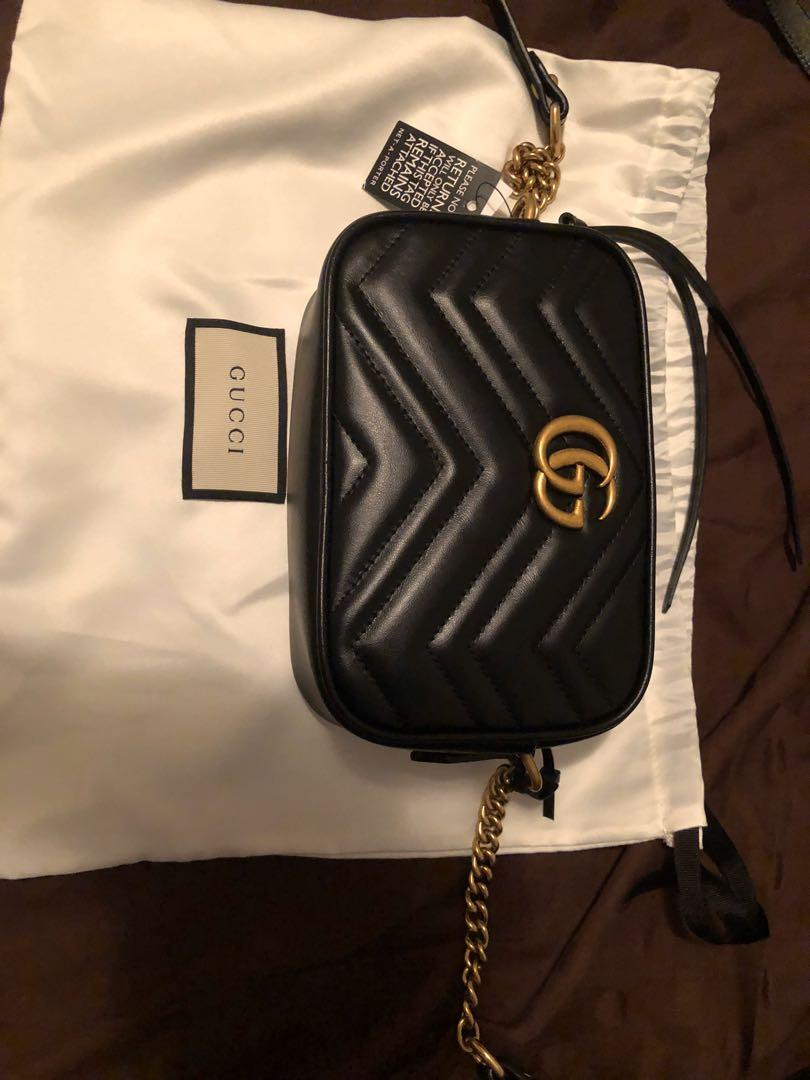 SELLING GUCCI MARMONT CAMERA MINI QUILTED SHOULDER BAG