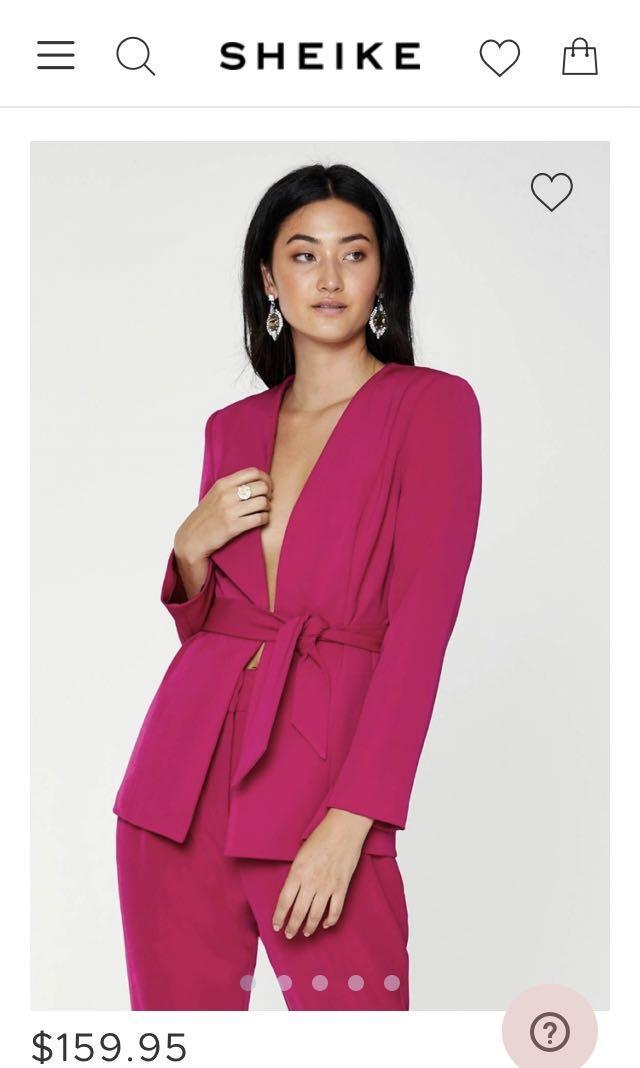 Sheike Women's Fanfare Jacket (magenta blazer) Size 10