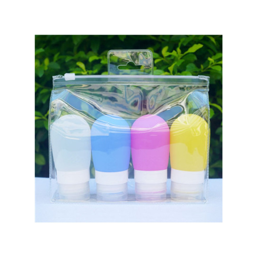 Silicone Travel Refillable Bottles 3pcs and 4pcs set Silicone Squeezable Leak-proof Containers for Cosmetics Shampoo, Conditioner, Lotion, Toiletries, 3pcs ,4pcs set