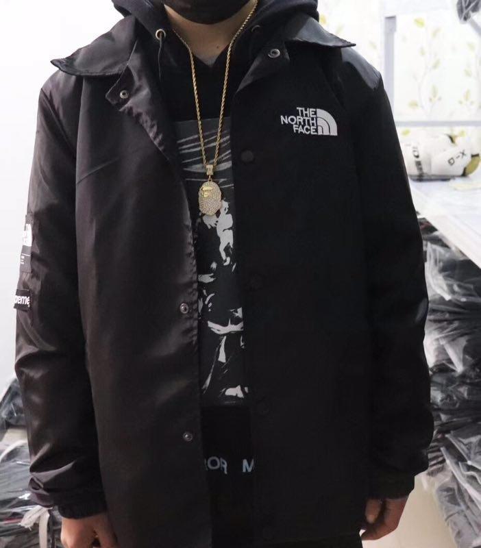 THE NORTH FACE 男 連帽風衣外套 休閒 運動 戶外 登山 簡約單色 大logo 防風防曬 舒適穿搭