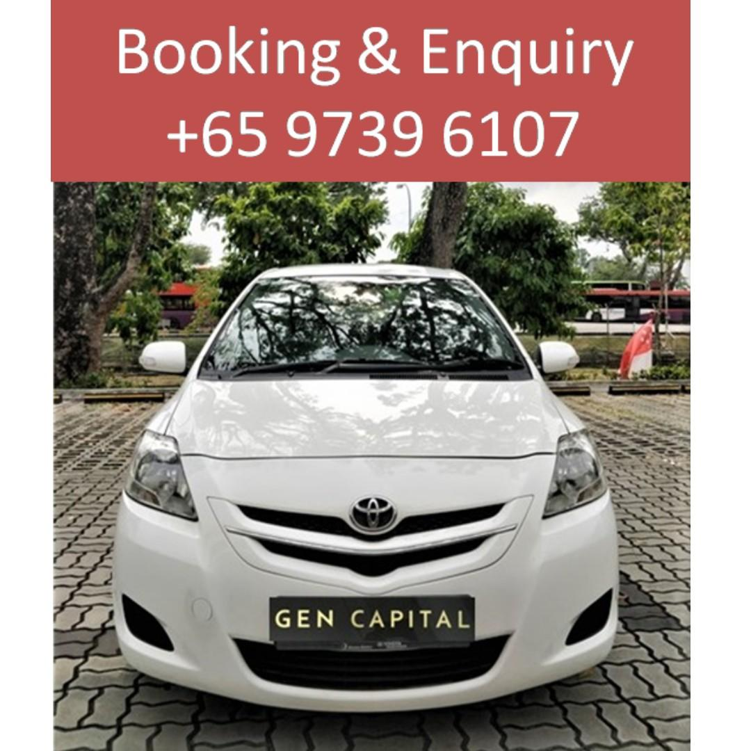 Toyota Vios 1.5A - Lowest rental rates, with the friendliest service! Any time ! Any day!