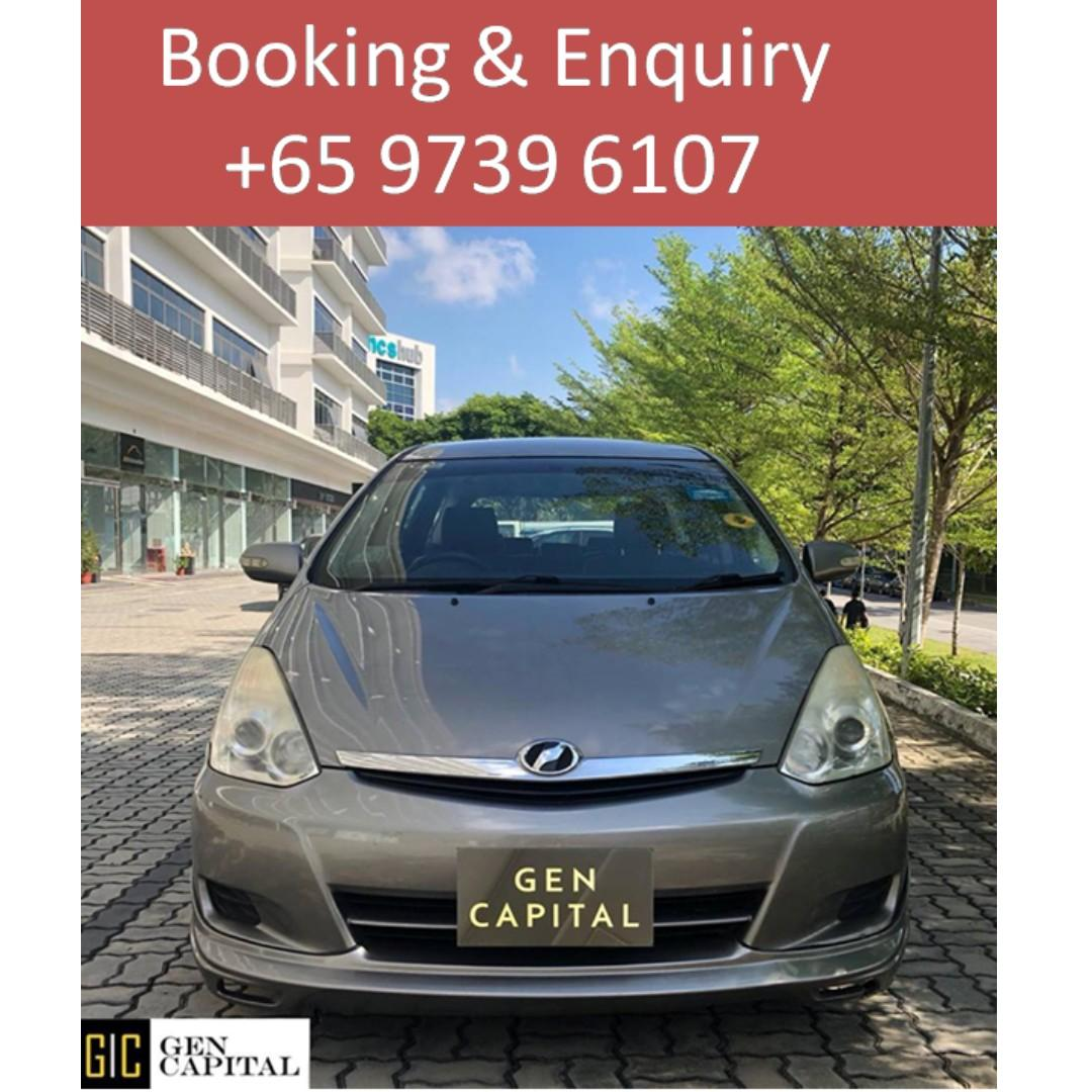 Toyota Wish 1.8A - Your preferred rental, With the Best service!