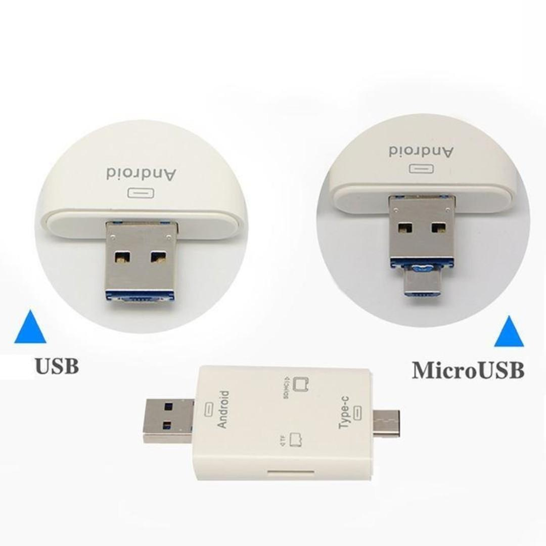 Type C 3 in 1 Card Reader