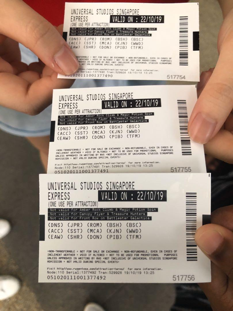 USS express tickets
