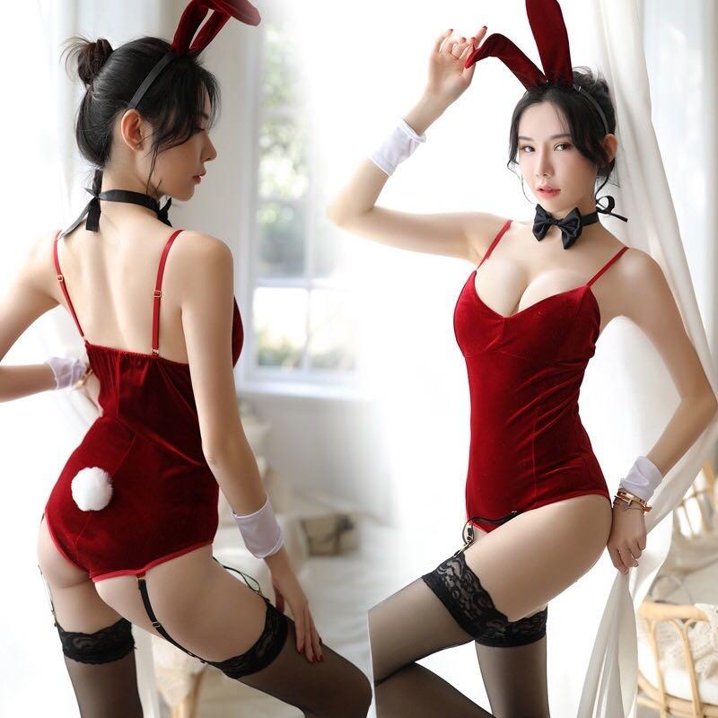 Women Sexy Role Playing Lingerie Sets Cosplay Bunny Girl Costumes Bedroom Sleepwear Set