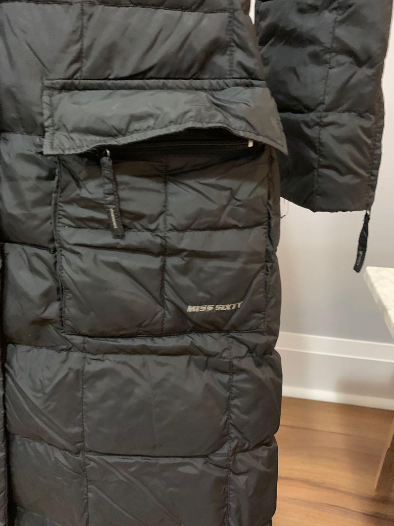 Women's long down winter jacket from Miss Sixty (XS)