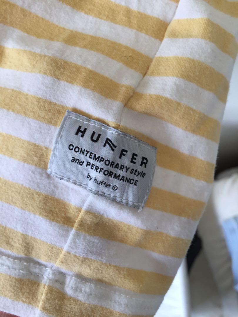 Yellow/white striped huffer tee :)