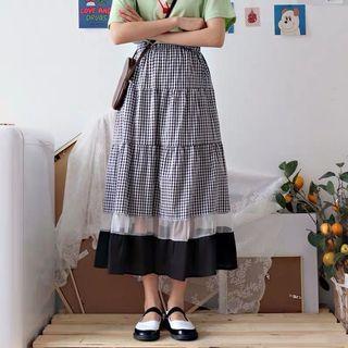 不議價全新黑白格紋蛋糕裙