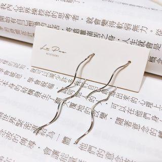 全新925純銀耳環 氣質長耳環