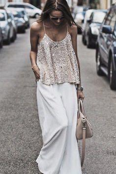 SILVER glam top