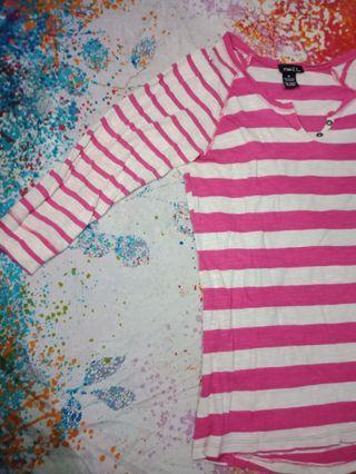 Rue 21 pink striped top