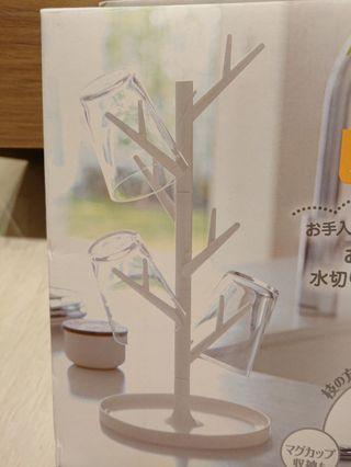 YAMAZAKI樹枝杯架 白