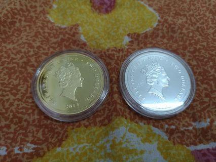 Koi Fish Fine Silver Coin Set
