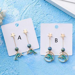[2 for $16!] BN Nice Blue Dolphin Earrings