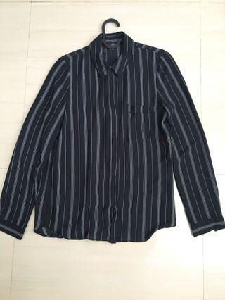 Black stripe white Tops