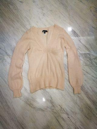 Mango mohair fluffy pink sweater
