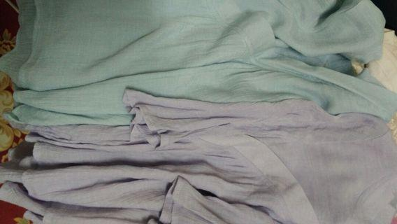 藍 紫漢服 茶服上衣 兩色