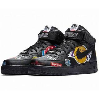 【美國代購】Nike Air Force 1 x Supreme x NBA 黑色 AQ8017-001 男女款