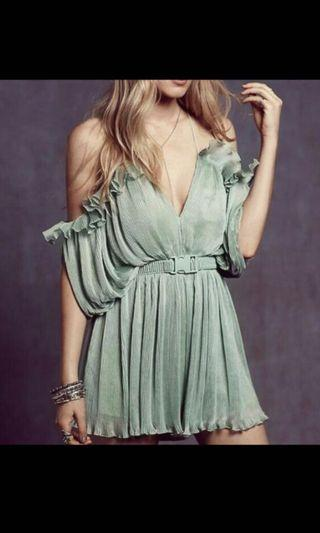 Cold shoulder jumpsuit dress