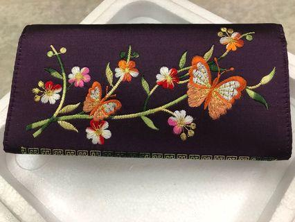 Batik inspired embroidery Wallet