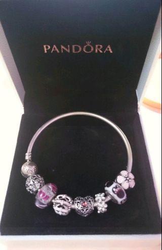 免運 潘朵拉 PANDORA 手環一串 19公分 可拆賣 串珠 串飾 銀環