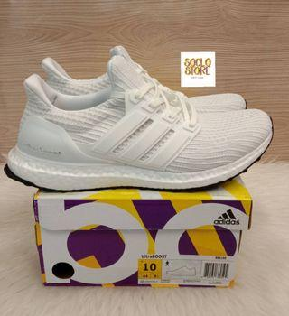 SEPATU ADIDAS ULTRABOOST ULTRA BOOST  4.0 TRIPLE WHITE PK VERSION 100% Perfect Kicks BNIB