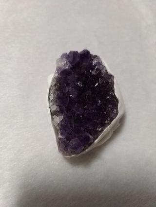 天然 烏拉圭 紫水晶 晶花 晶片 擺飾 擺件(04)