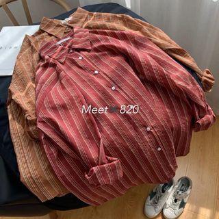 1024🔛直條紋襯衫