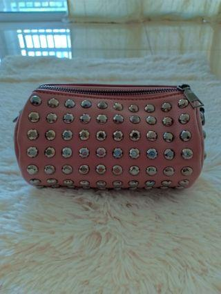 BRAND NEW Pink Stud Sling Bag