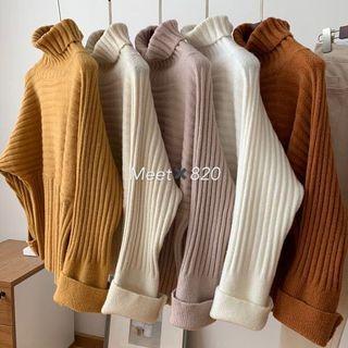 1024🔛高領坑條毛衣