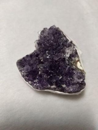 天然 烏拉圭 紫水晶 晶花 晶片 擺飾 擺件(08)