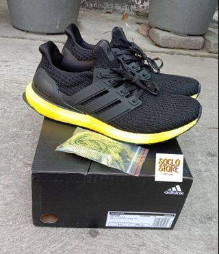 sepatu adidas ultraboost ultra boost 4.0 black yellow PK VERISON 100% Perfect Kicks BNIB