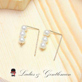 <Ladies & gentleman>珍珠穿式耳環(可改夾式)