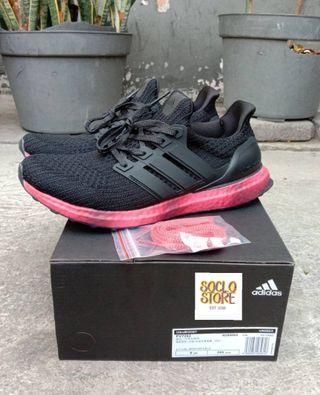 Adidas ultraboost ultra boost 4.0 black colored sole red PK version Perfect Kicks BNIB
