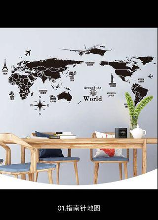 壁貼/壁畫。臥室客廳房間牆面裝飾。簡約個性自黏壁紙壁畫