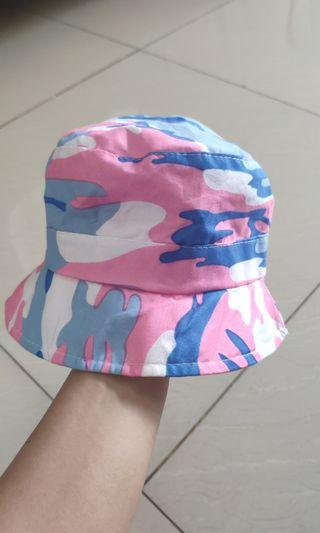 [NEW!] Bucket Hat Topi Anak Perempuan Army 1-2y