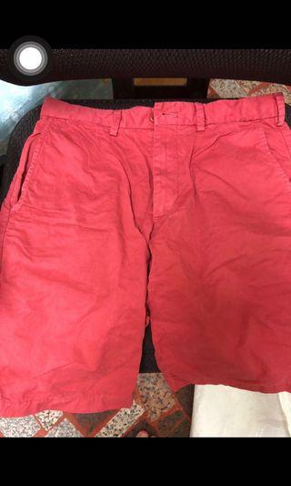 Uniqlo 百慕達褲 紅